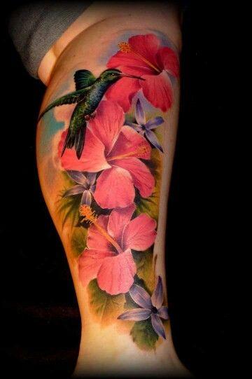 Mad Joe tattoo   Hibiscus tattoo Pink flower tattoos Beautiful  flower tattoos