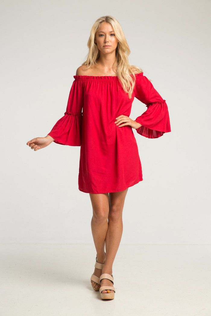 IKA BELL SLEEVE DRESS | Dresses with sleeves, Bell sleeve