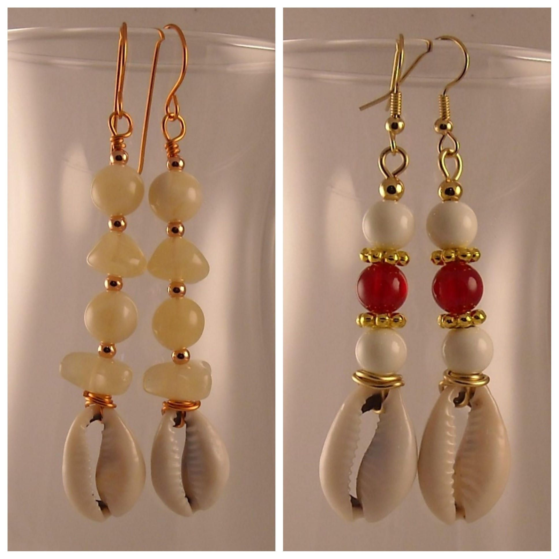 Afrocentric Beaded Cowrie Shells African Earrings Tribal Earrings African  Jewelry Ethnic Earrings Boho Earrings Boho Jewelry Unique Handmade