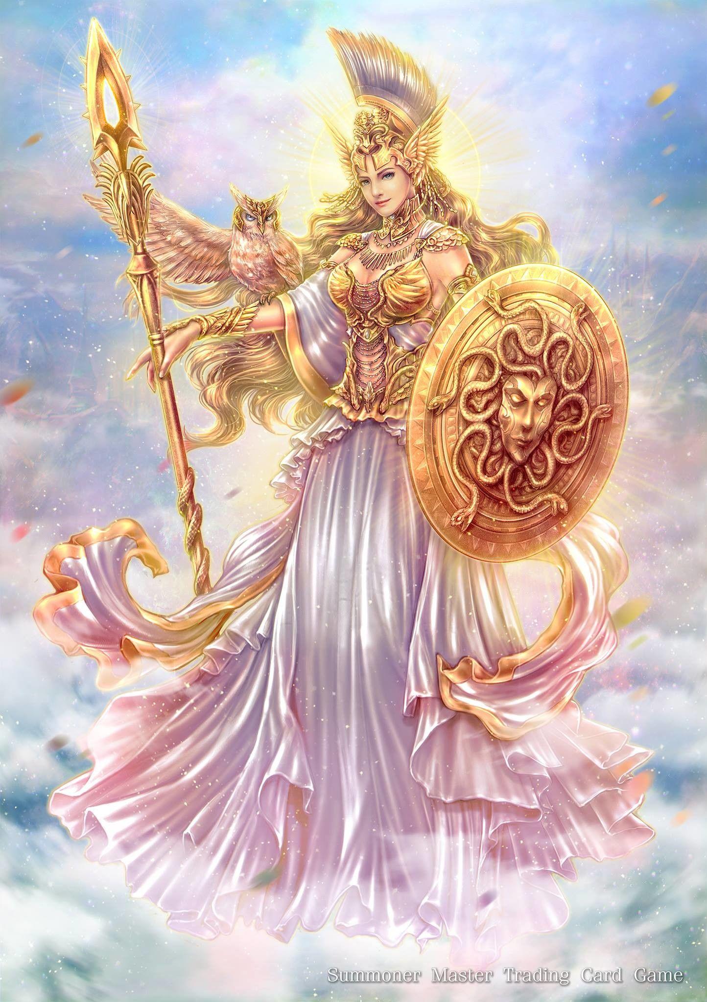 красивая картинка фэнтези богини афины