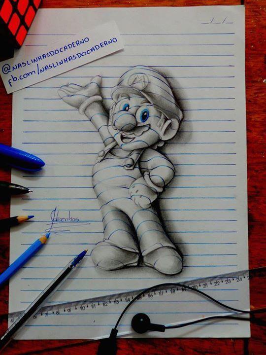 Artista De 15 Anos Crea Increibles Dibujos 3d En Su Cuader 3d Drawings Drawings 3d Drawing Techniques