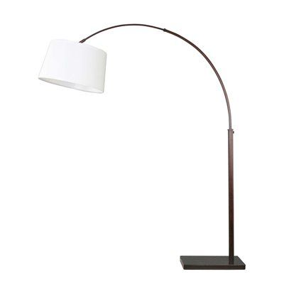 Dsi 67 1 4 In Oil Rubbed Bronze Arc Floor Lamp With White Shade Overarching Floor Lamp Bronze Arc Floor Lamp Lamp