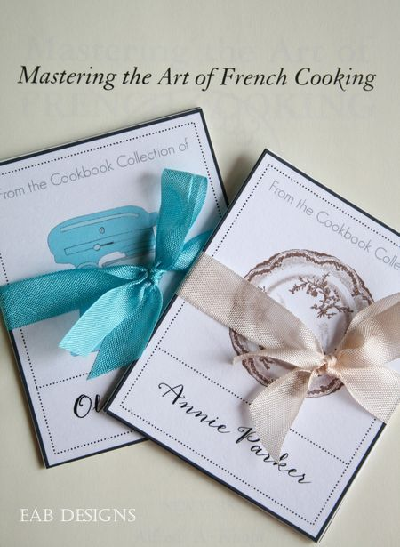 Eab designs cookbook bookplate 4 - would make a very nice gift to - slip template