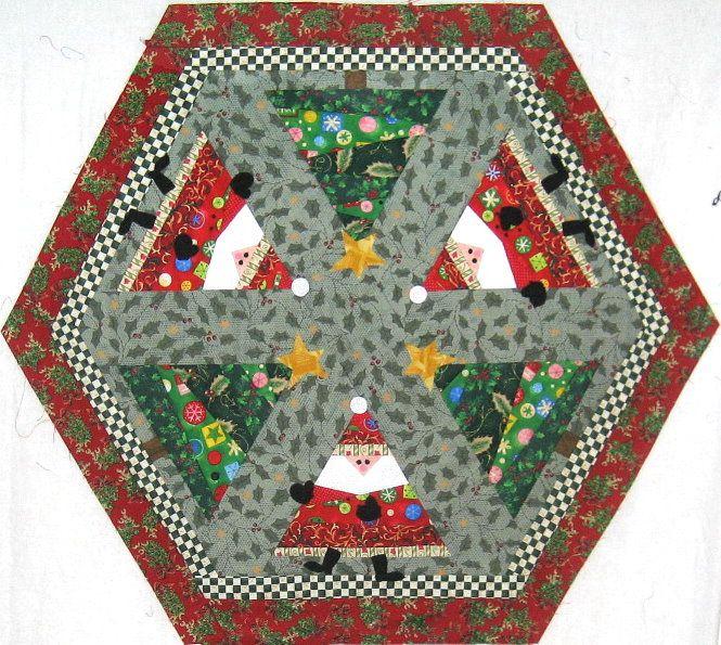 Christmas Tree Table Runner Quilt Pattern: Q157/MR-157 Dance Santa, Dance