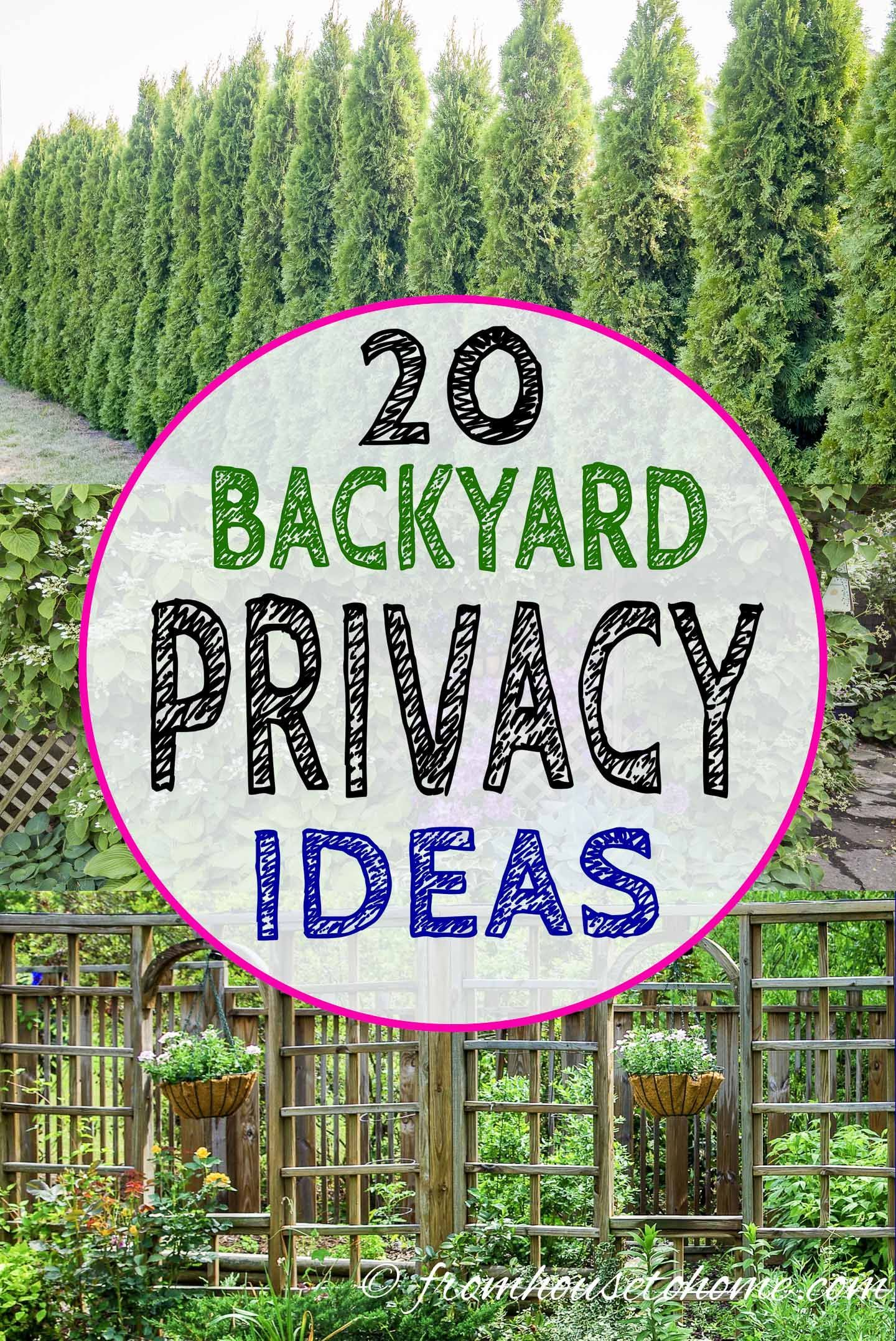 Backyard Privacy Ideas For Screening Neighbors Out - Gardening