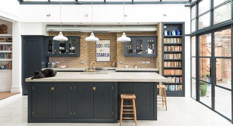 Cucina stile inglese parete muratura interior design pinterest