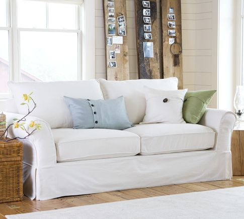 My Favorite Pottery Barn Sofa It Would Only Stay Clean In House For 10 Minutes But I D Really Enjoy Those