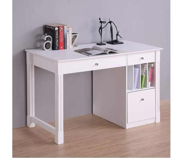 48 Deluxe Contemporary Desk Bring A Touch Of Elegance To Any Room In The Home With This Beautiful Deluxe Woo White Desks Wood Computer Desk Solid Wood Desk