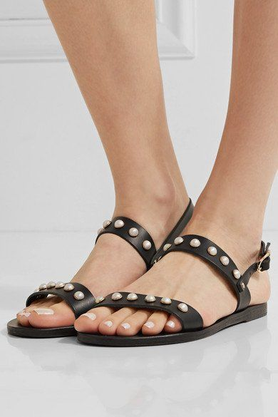 Ancient Greek Sandals Clio Pearls Leather Sandals vqYJs