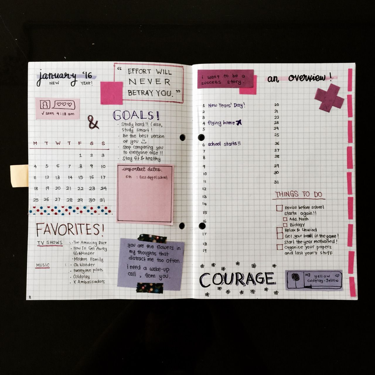 """studybuzz: """" 24.12.15 // there is no such feeling like being over-excited for the new year and updating your bullet journal accordingly. also, happy holidays, everybody! (happy christmas eve, too, if..."""