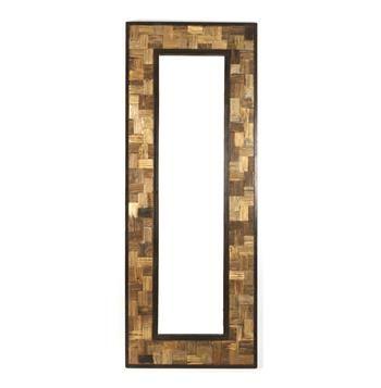 Reclaimed Wood Metal 30 X 80 Leaning Floor Mirror