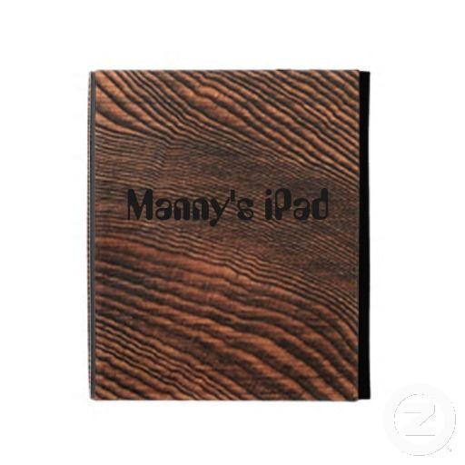Hemlock Wood Panel iPad Case *Personalize*