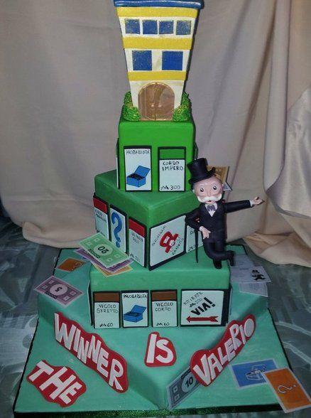Monopoly cake by Lucia Busico CakesDecorcom cake decorating