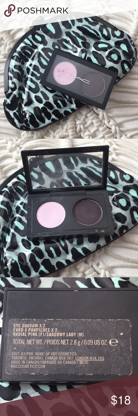 MAC Cosmetics Eyeshadow and Clutch Slightly used mini