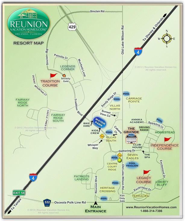 Reunion Resort Map About Us Pinterest Resorts Orlando