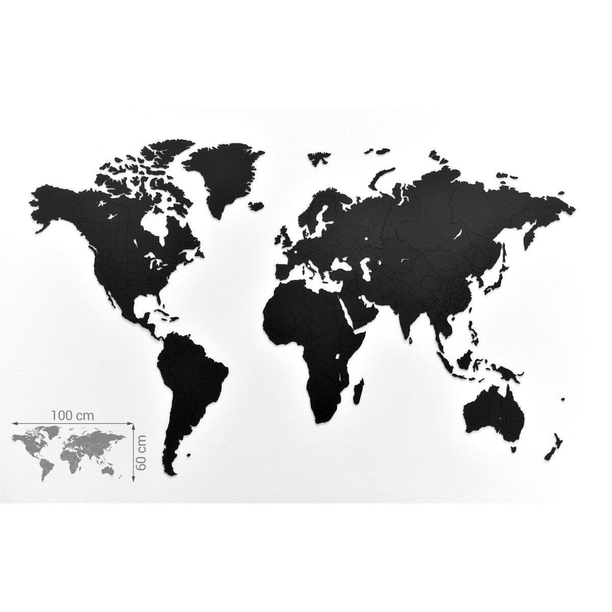 Gold World Map Art Print small