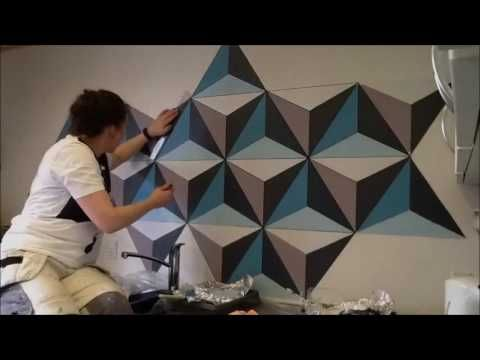 Painting Geometric Wall Remember Full Hd Youtube Patterns In