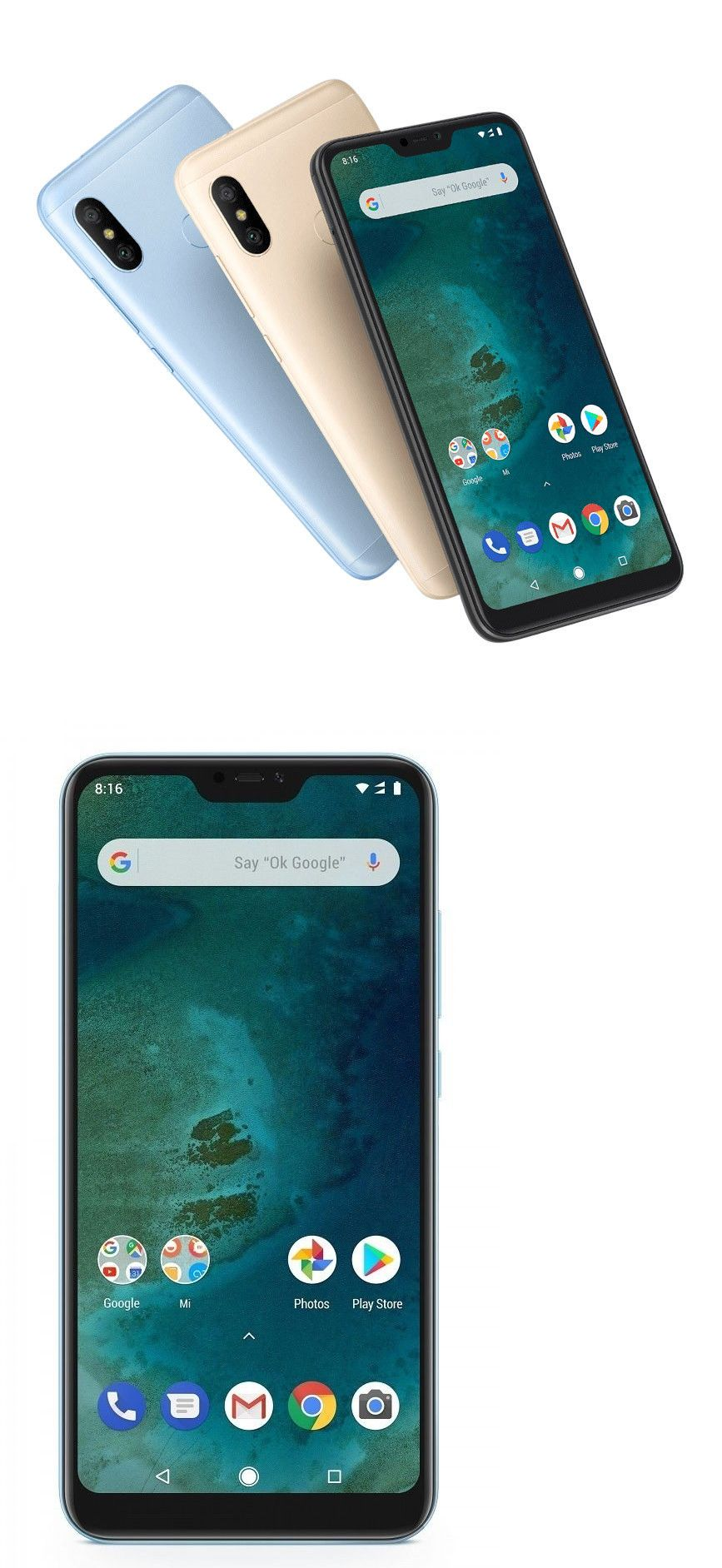 Cell Phones And Smartphones 9355 Xiaomi Mi A2 Lite Factory Unlocked 5 84 64gb 4gb Ram Black Gold Blue Gl Prepaid Phones T Mobile Phones Samsung Cell Phones