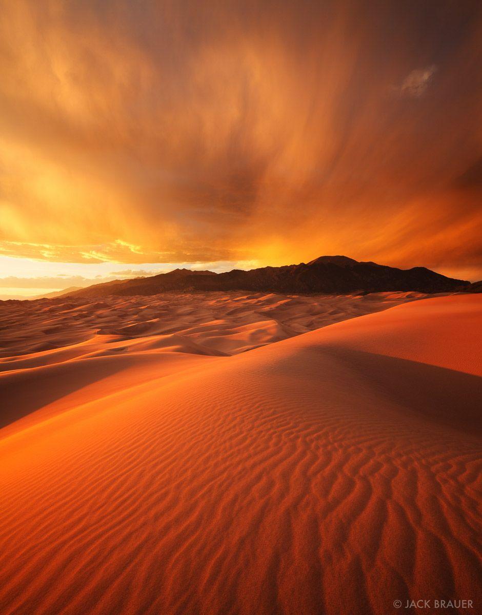 Fiery Dunes Sunset : Great Sand Dunes, Colorado : Mountain ...