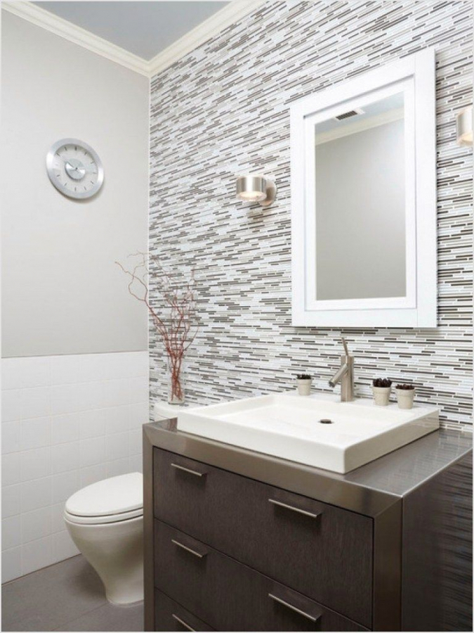 101 Bathroom Half Wall Tiles Ideas Best Home Decor Ideas Best Home Decor Ideas Small Half Bathrooms Bathroom Backsplash Small Half Baths