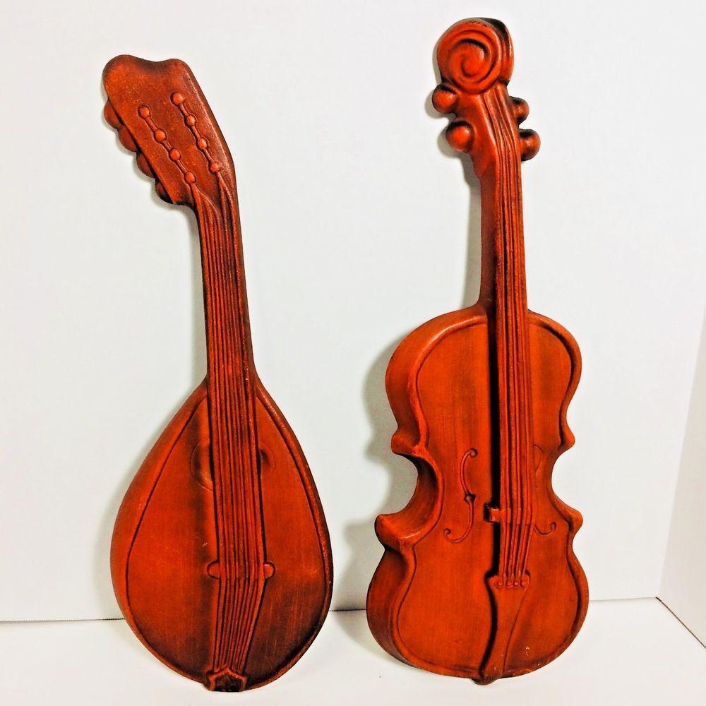 Royal Wall Plaques Cast Aluminum Groovy Violin Mandolin Musical