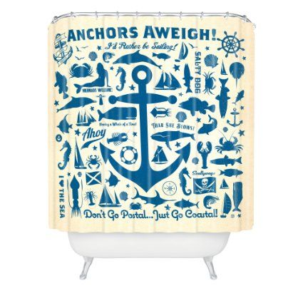 Attirant DENY Designs Anderson Design Group Anchors Away Shower Curtain, 69 By  72 Inch