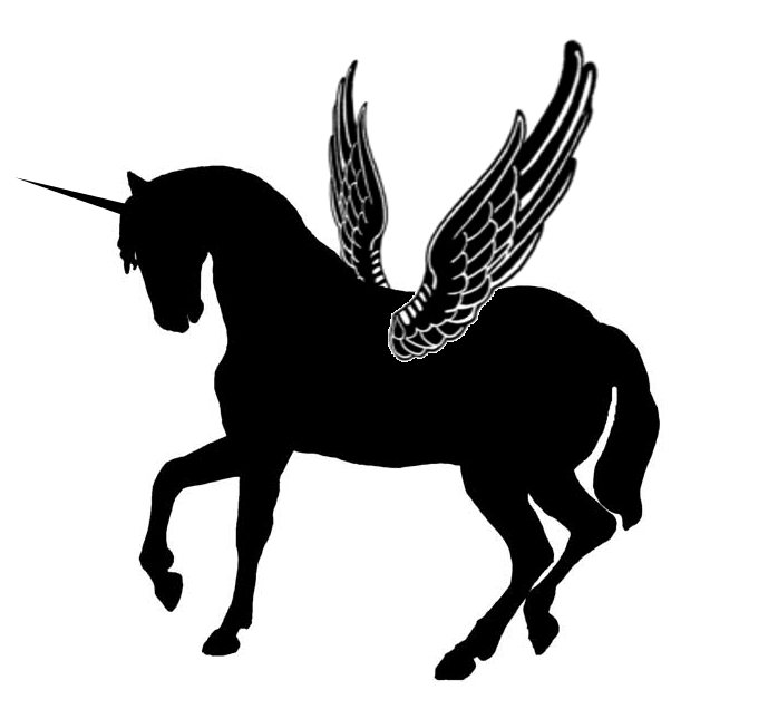 Silhouette Winged Unicorn By Viktoria Lyniantart On