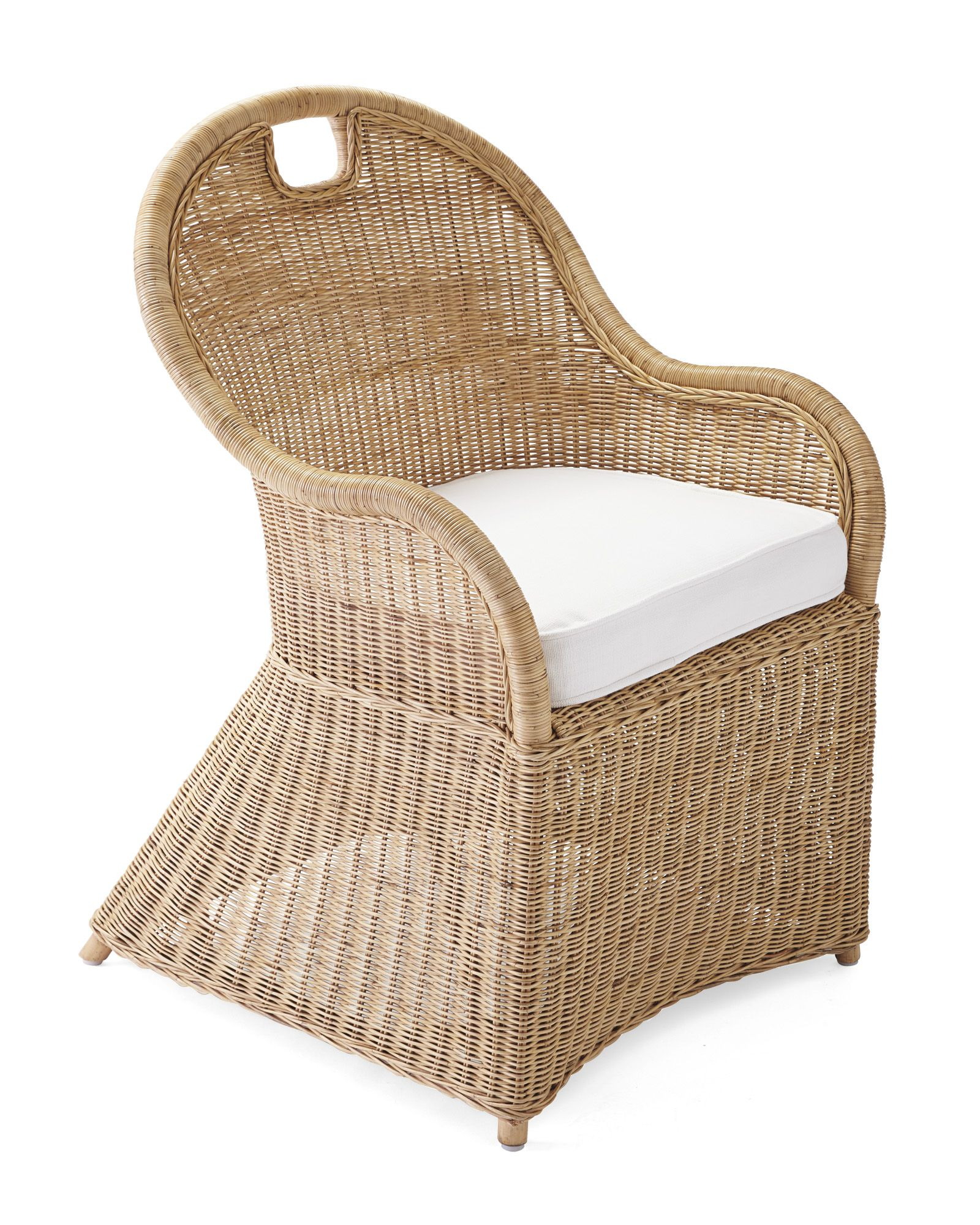Shore Dining Chair with Cushion via Serena & Lily Dining