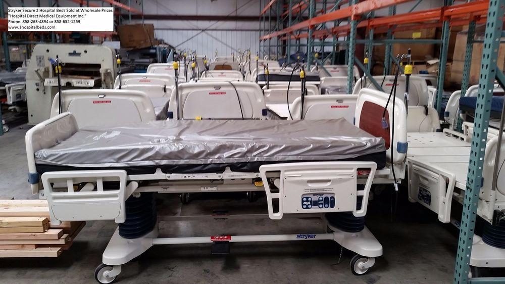5 used refurbished stryker secure 2 hospital beds package deal