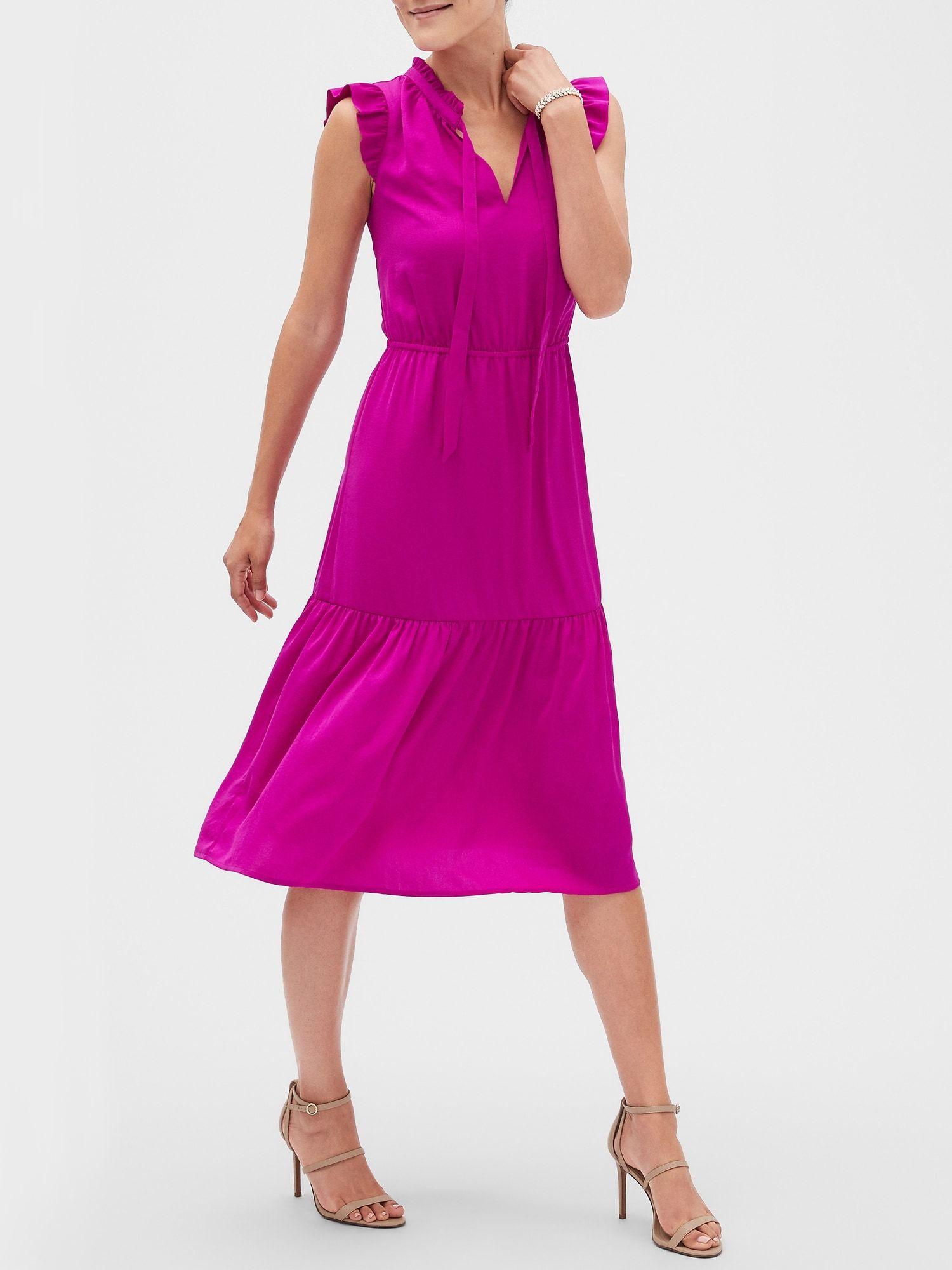 Romantic Midi Dress Banana Republic Factory Dresses