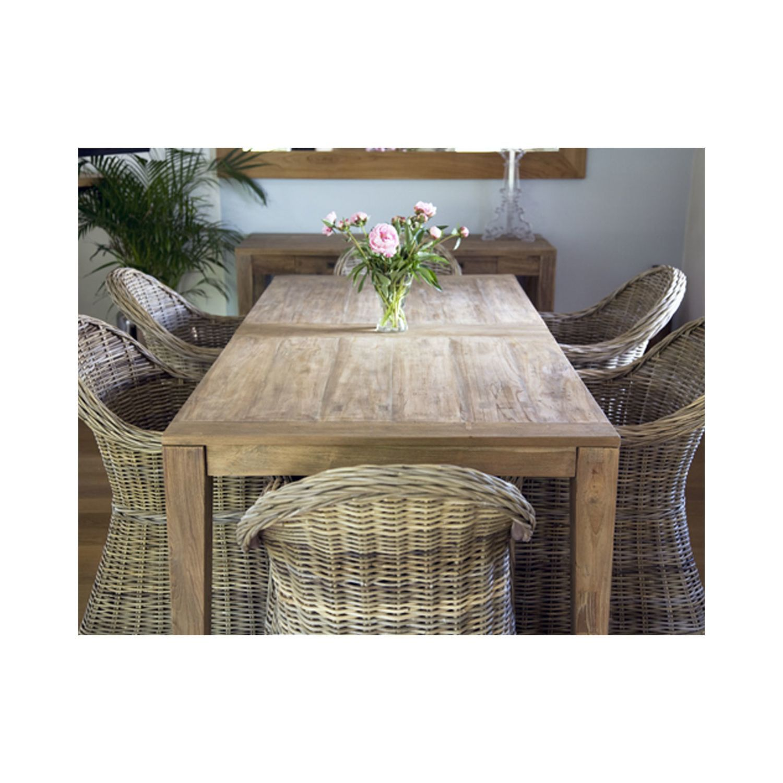 Bois Dessus Bois Dessous Table En Bois De Teck Recycle Longueur  # Meubles Teck Recycle Pas Cher