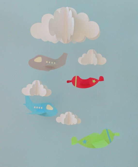 Baby Mobile Airplane Baby Mobile Plane Mobile by goshandgolly