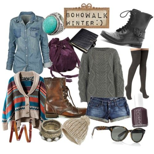 Winter Boho Style Clothing