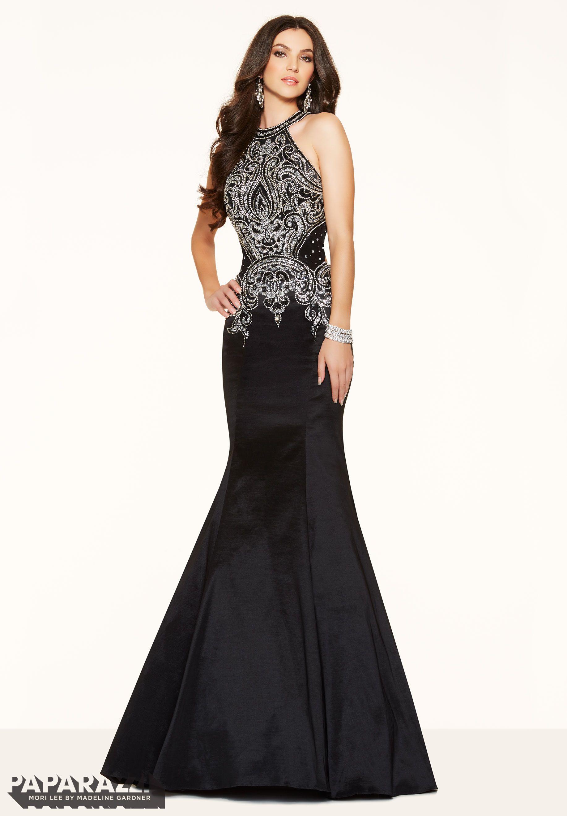 Prom dresses by Paparazzi Prom Beaded Stretch Taffeta Zipper Back Closure.  Colors Available  Navy e21c88a516