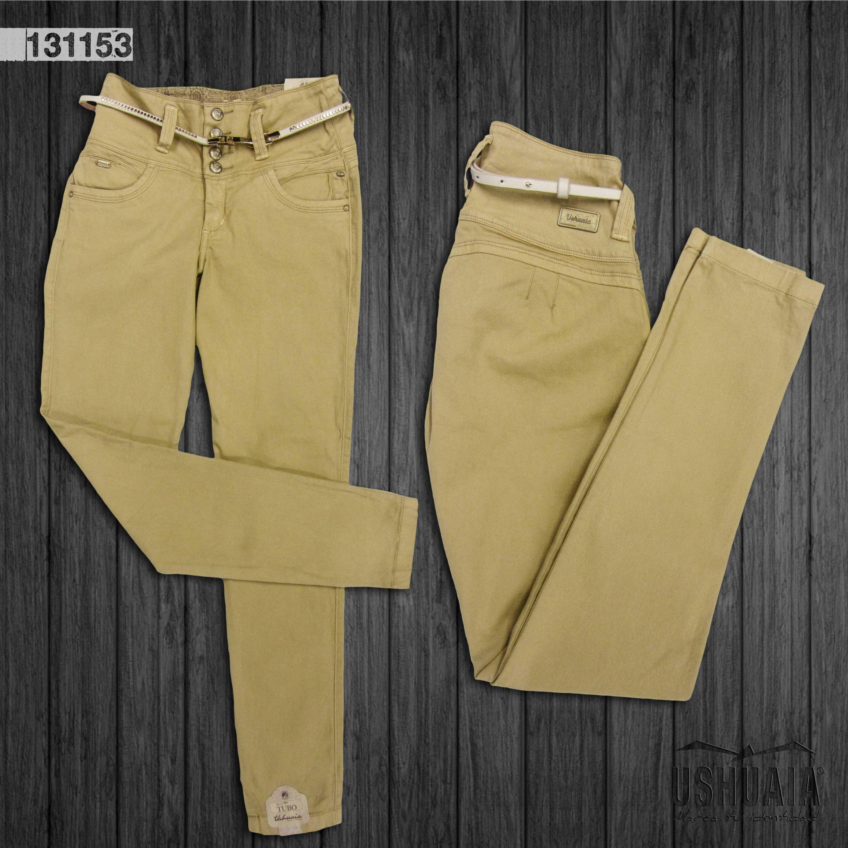 Pantalon Para Dama Bota Recta Fashion Khaki Pants Pants