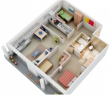 Gambar Denah Rumah Minimalis 3 Kamar Tidur 12 Denah Rumah Kecil Denah Lantai Rumah Denah Rumah