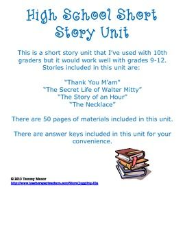 High School Short Story Unit High School Literature Teaching