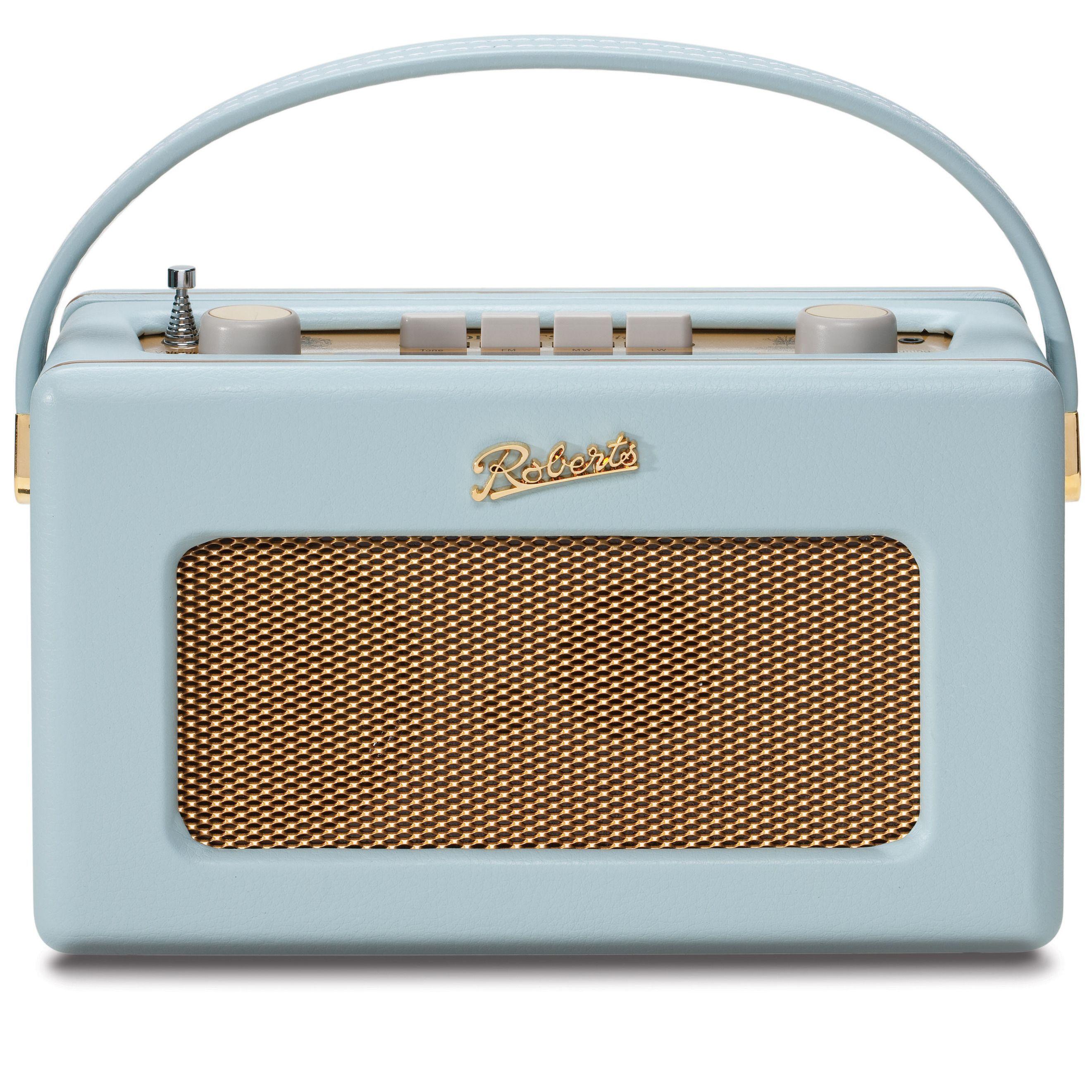 Robert\'s Radio 1950\'s Style Duck Egg Blue Leather Finish Retro Radio ...