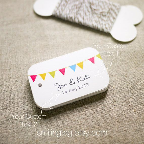 Happiness Bunting Gift Tags