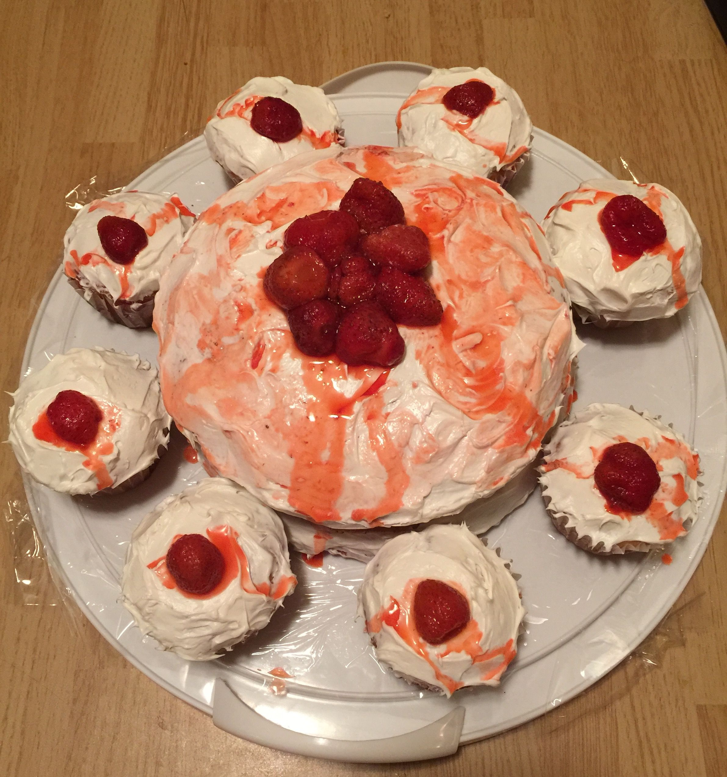 White Cake With Vanilla Frosting And Whipped Cream Vodka