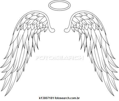 angel wings stock illustrations