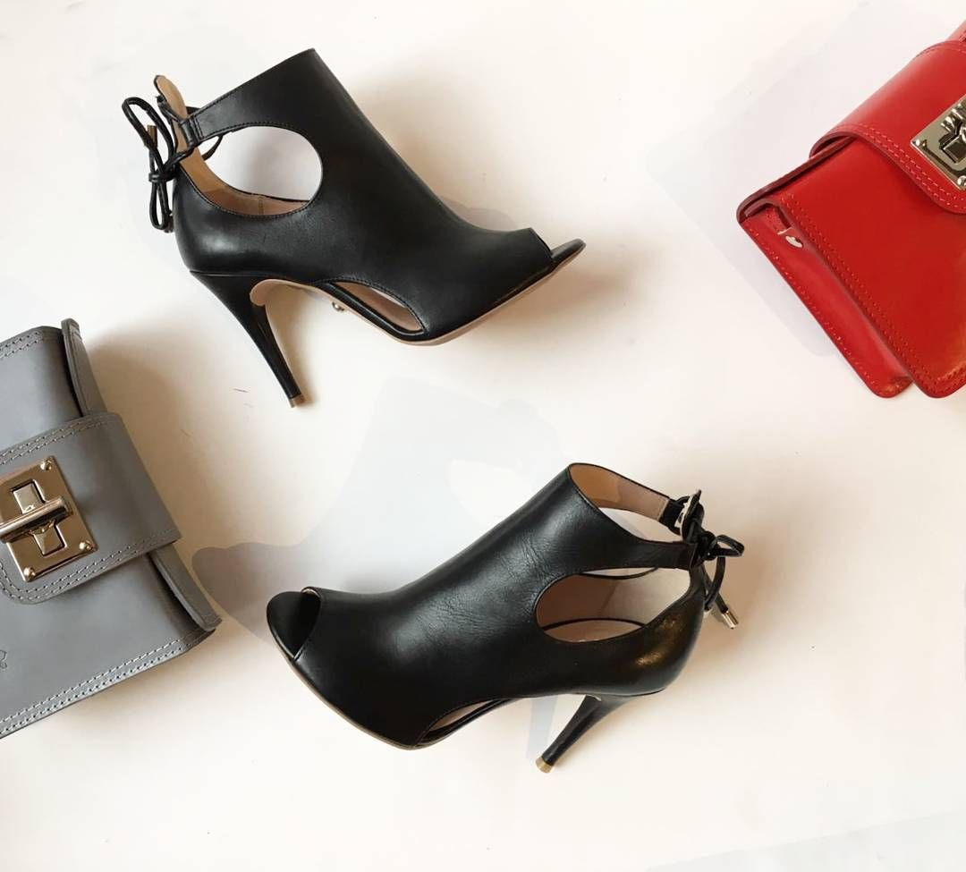 Rylko Highheels Highquality Black Leatherhandbag Red Grey Sexyshoes Newcollection2017 Alebuty Com Pl High Heels Shoes Leather Handbags