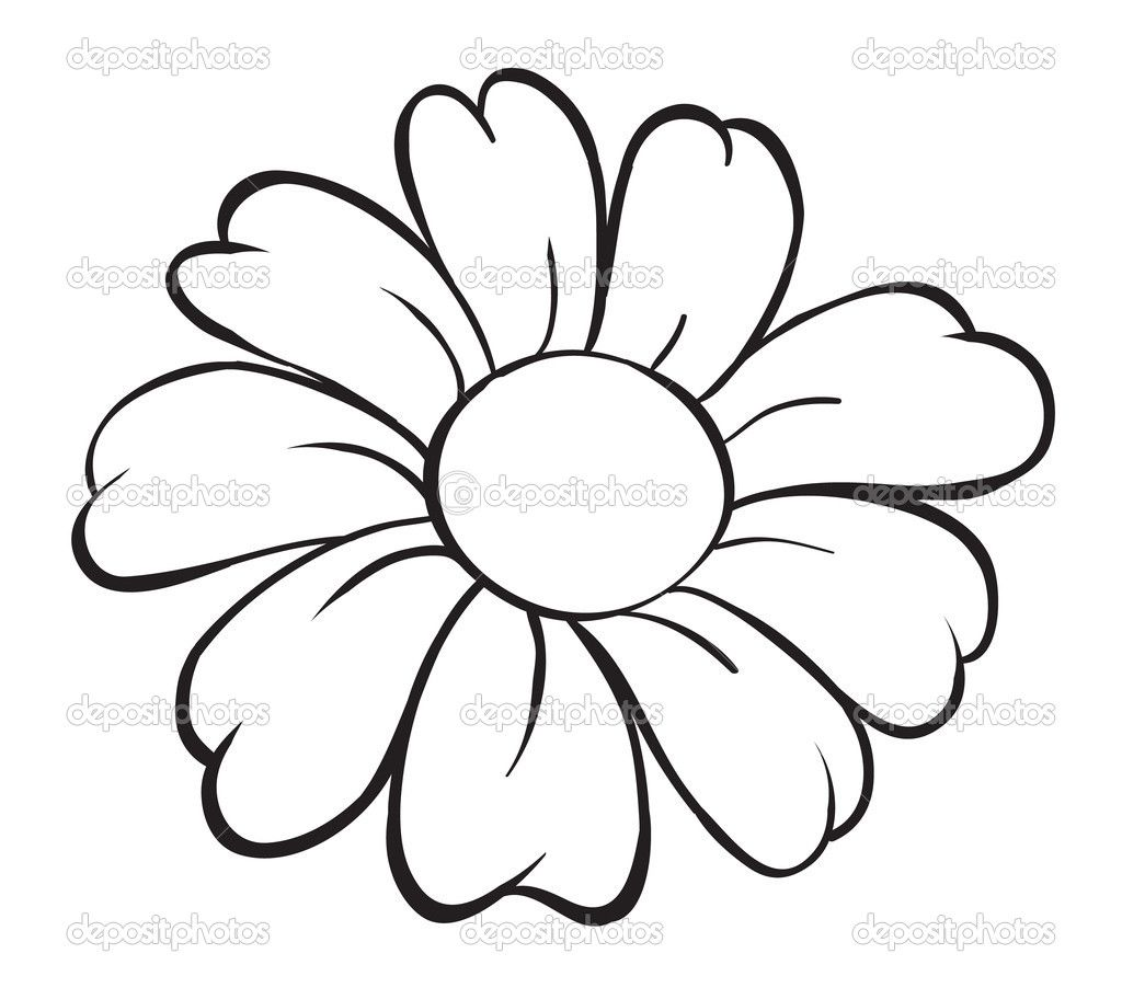 Easy Drawings Of Flowers For Kids Picture Images Simple Flower