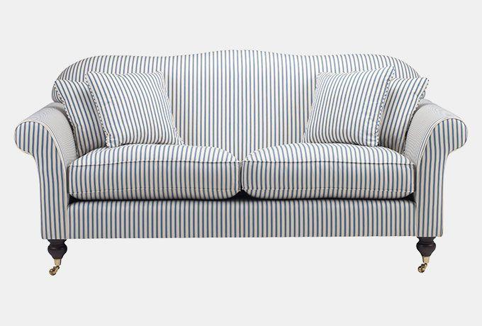 blue striped sofa uk art van beds hinton in ian sanderson astrid stripe french wesley barrell