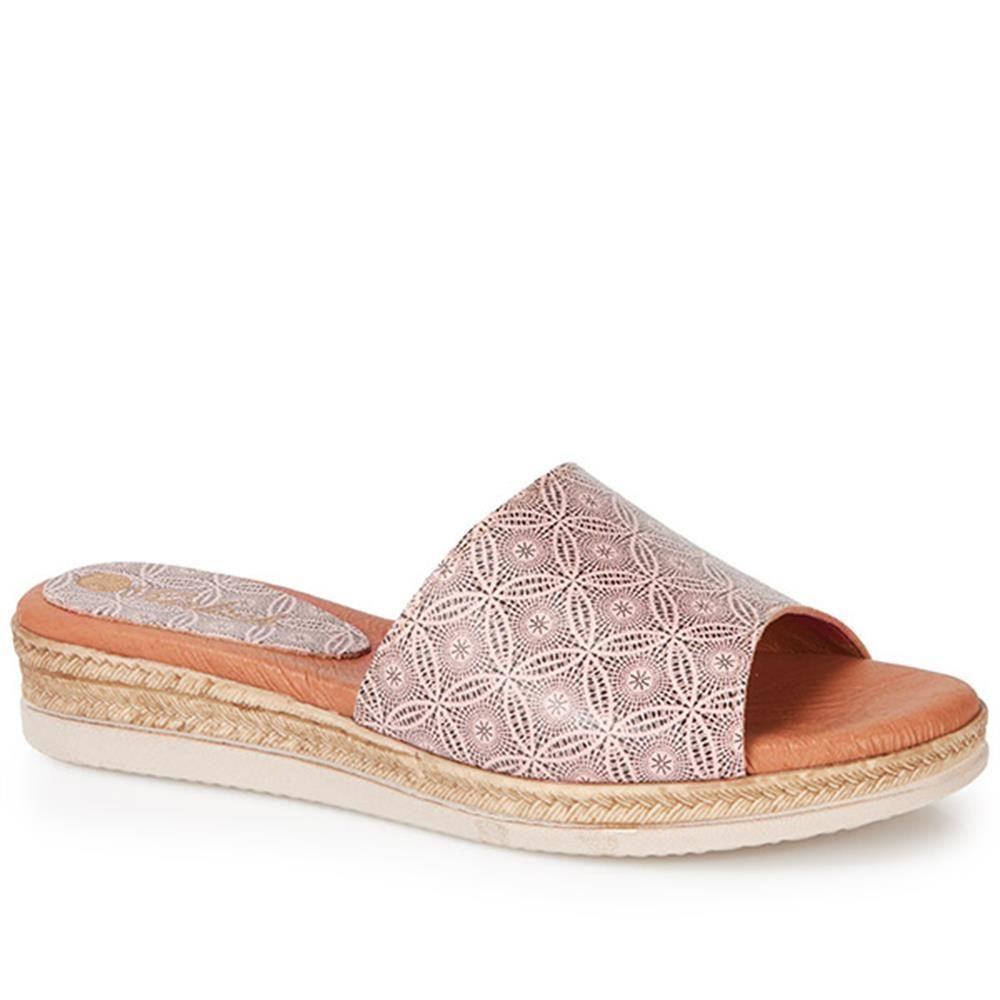 d9d2b3a7540aa5 Be noticed for your stylish shoes not your bunions! Leather Mule  (SLOW27500) by