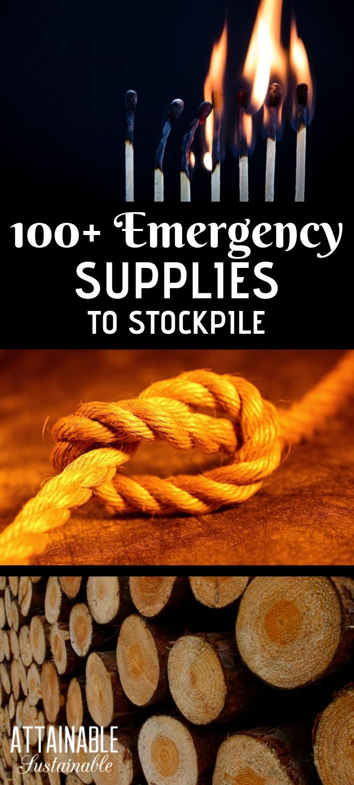 100+ Items for Emergency Preparedness #hurricanefoodideas