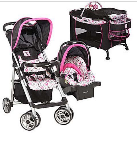 Disney BABY Minnie MOUSE Car Seat STROLLER Play Pen BASSINET