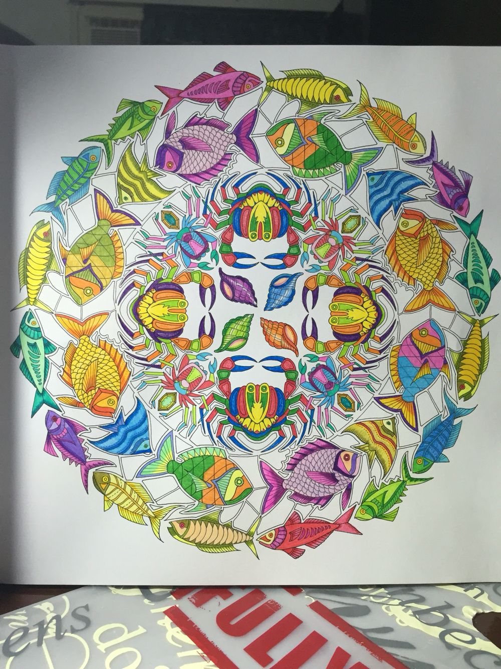 Crabs And Fishes Lost Ocean Johanna Basford Adult Coloring Book