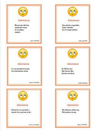 Resultado De Imagen Para Adivinanzas Para Ninos De 8 A 10 Anos Adivinanzas Adivinanzas Para Ninos Material Educativo