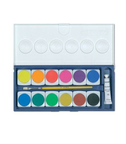 Lyra Watercolor Paint Set 12 Opaque Colors With Brush Plus 1 Tube